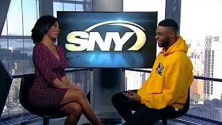 SNY's Taylor Rooks chats with Emmnauel Mudiay about Frank Ntilikina