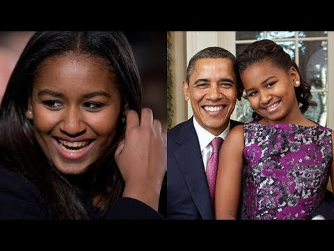 Sasha Obama, Looks All Grown Up In Fitted Black Gown For High School Prom.