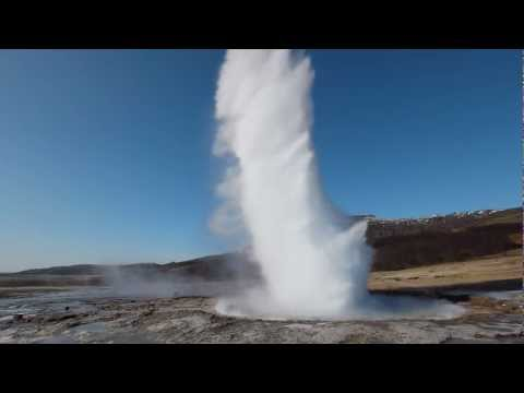 Geyser Strokkur on Iceland