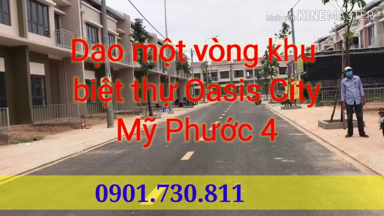 Biệt thự sân vườn khu Oasis City, đối diện trường đại học Việt Đức giá siêu rẻ. LH: 0901730811 video