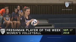 Oregon State's Maddie Sheehan earns Pac-12 women's volleyball Freshman of the Week honor