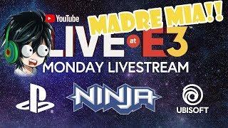 YouTube Live at E3 2018 Monday: Ninja, PlayStation & Ubisoft- Reacción - Maju Salvin