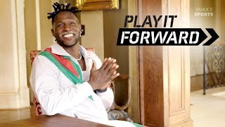 Antonio Brown gifts his personal chef a diamond-encrusted chef's knife | Play It Forward