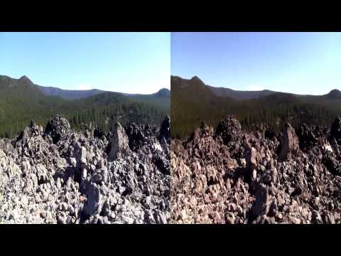 (3D) Big Obsidian Flow, Newberry Volcanic National Monument