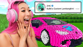 I Asked Youtubers What To Build In Minecraft!