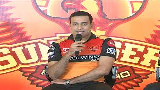 Sunrisers Hyderabad Team Press Meet | IPL | Muralitharan | VVSLaxman | Tom Moody | ABN Entertainment