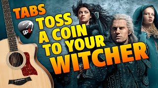 [Jaskier Song Toss A Coin To Your Witcher (Fingerstyle Guitar Cover with Tabs)
