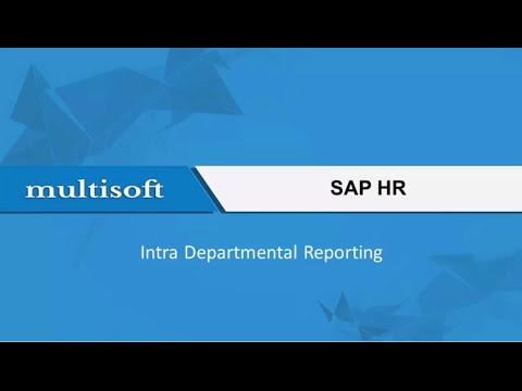 SAP HR Intra Departmental Reporting Training