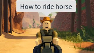 The Roblox Wild West Experience