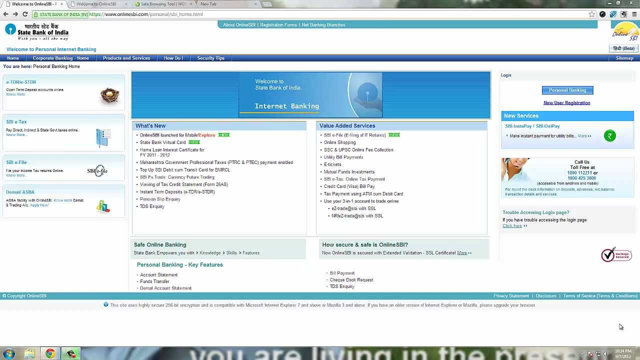 sbi credit card online payment through hdfc net banking