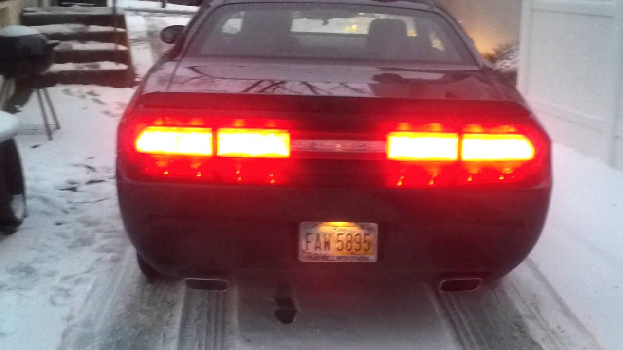 Dodge Charger Tail Lights >> Dodge Challenger Sequential Tail Lights - YouTube