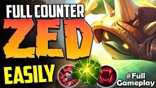 FULL COUNTER ZED EASILY WITH MID LANE RAMMUS | Rammus vs Zed MID | Season 8 Ranked Gameplay