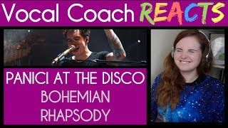 Vocal Coach reacts to Panic! At the Disco (Brendon Urie) singing Bohemian Rhapsody
