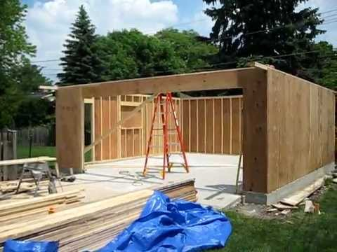 garage construction. Black Bedroom Furniture Sets. Home Design Ideas