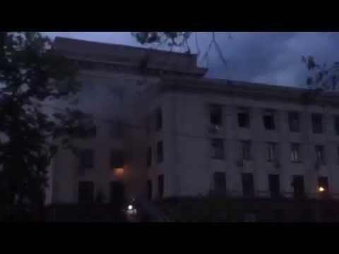 Куликово поле, Одесса Из горящего Дома Профсоюзов сепаратисты в знак
