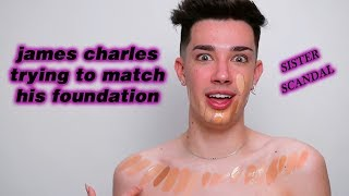 james charles trying to find matching foundation for 9 minutes straight