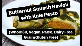 Butternut Squash Ravioli (Whole30, Paleo, Vegan, Grain Free)