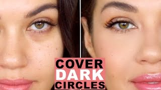 How To Cover Dark Circles and Bags Under Eyes | How to Color Correct | Eman
