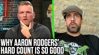 Aaron Rodgers Tells Pat McAfee Why His Hard Count Is So Good