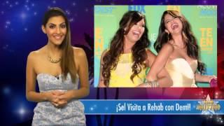 ►Selena Gómez ►Acompaña ►Demi Lovato a REHAB!