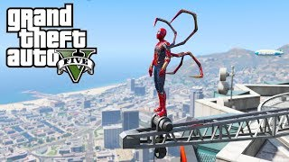 GTA 5 - Spiderman (Avenger infinity war) VS Bad Cops