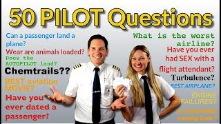 PILOTS answer 50 MOST googled PASSENGER QUESTIONS! Captain Joe + Dutchpilotgirl