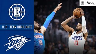 Paul George Hits Go Ahead Three to Lift Clippers Over Thunder | Honey Highlights