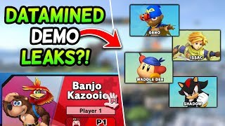 DATAMINED LEAKS from the Super Smash Bros. Ultimate Demo?! [Rumor]