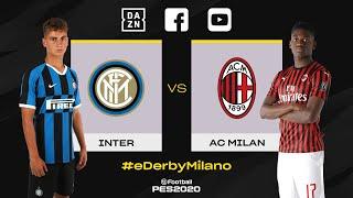 INTER vs AC MILAN on PES2020! | SEBASTIANO ESPOSITO vs RAFAEL LEAO | #eDerbyMilano 🎮⚫🔵💪🏻 [SUB ENG]