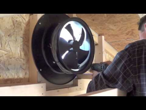 Yellowblue Solar Gable Fan Install Video Youtube