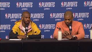 Chris Paul & PJ Tucker Postgame Interview - Game 4 | Warriors vs Rockets | 2019 NBA Playoffs
