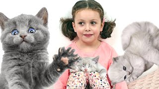 Kids react to kittens for the first time