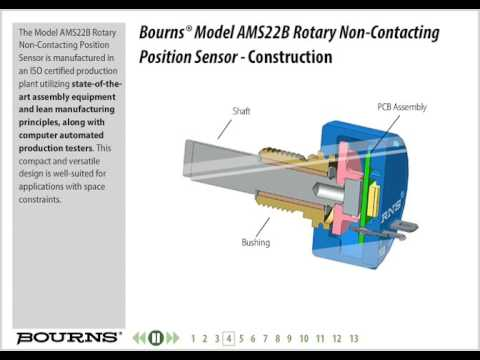 Bourns Model AMS22B Non-Contacting Analog Rotary Position Sensor Training
