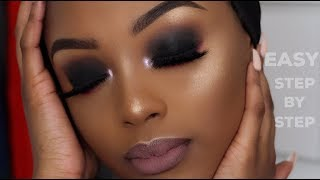 HOW TO: EASY SMOKEY EYE MAKEUP TUTORIAL | BEGINNER FRIENDLY | WOC