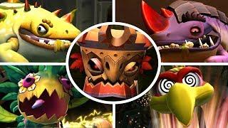 Donkey Kong Country Returns HD - All Bosses (No Damage)