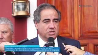 Martinez encabezó el acto por el 35º aniversario del hundimiento A.R.A. Gral. Belgrano
