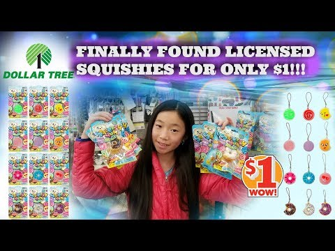 NEW 1 SUPER SLOW RISING LICENSED SQUISHIES AT DOLLAR TREESQUEESH YUM FOR ONLY