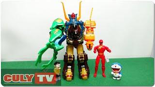 Lắp ráp robot gao chúa siêu thú của siêu nhân gao đỏ đồ chơi trẻ em gao rangers gao god