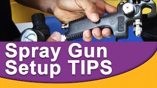 Spray Gun Setup TIPS, Then Mixing and Spraying Basecoat Over Primer!