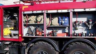 Сотрудники противопожарной службы провели экскурсию для детей в пожарную часть