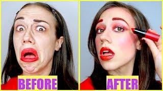 FULL FACE USING ONLY MIRANDA'S LIPSTICK!