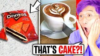 AMAZING CAKES THAT LOOK LIKE EVERYDAY OBJECTS!? (LANKYBOX REACTION) *CAKE OR FAKE CHALLENGE!*