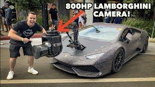 RARE 800HP LAMBORGHINI WITH A $1 MILLION DOLLAR CAMERA ATTACHED!