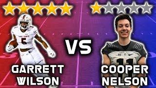 5 Star Recruit vs 1 Star Recruit *WIDE RECEIVER EDITION* | Sharpe Sports