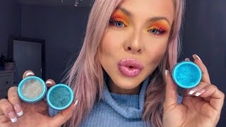 ASMR EATING JEFFREE STAR'S EDIBLE LIP SCRUBS (BLUE BLOOD COLLECTION) - HIGHEST VOLUME X16