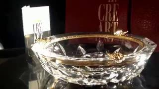 Luxury crystal ashtray