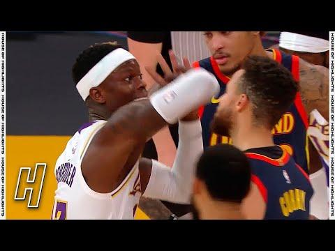 Stephen Curry & Dennis Schroder HEATED Moment - Warriors vs Lakers | February 28, 2021