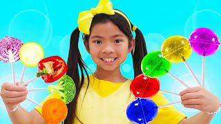 Color Vegetable Song | Learn Colors & Healthy Eating for Kids Nursery Rhymes Kids Songs