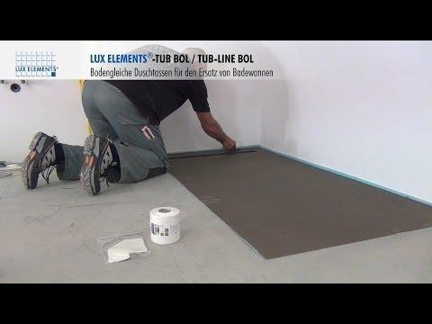 lux elements montage bodengleiche duschtassen tub bol als ersatz f r badewannen. Black Bedroom Furniture Sets. Home Design Ideas