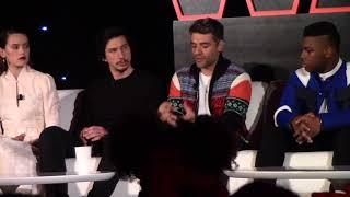 Daisy Ridley, Adam Driver, Oscar Isaac, John Boyega   STAR WARS: THE LAST JEDI Progressing The Story